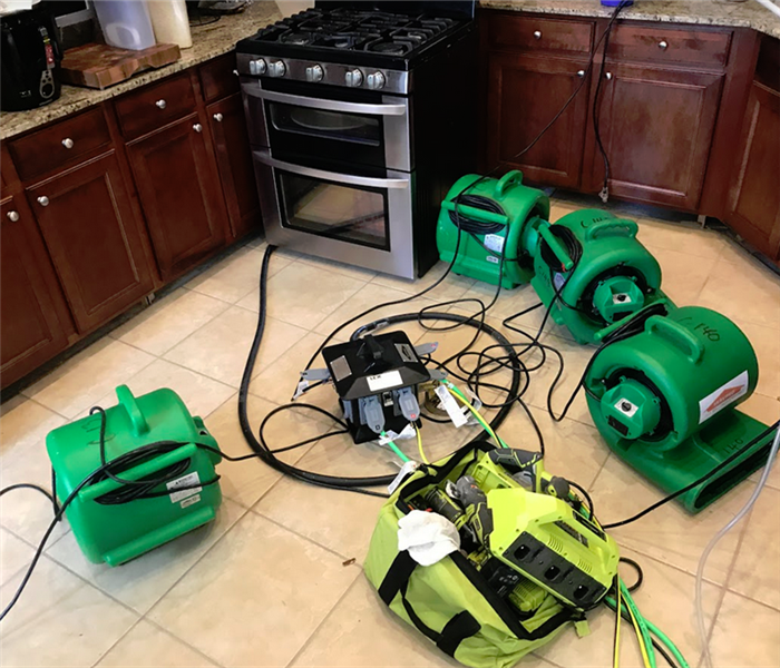 SERVPRO appliances working in a house